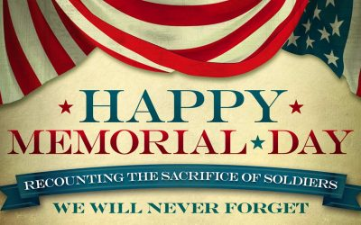 Memorial Day Monday May 30th